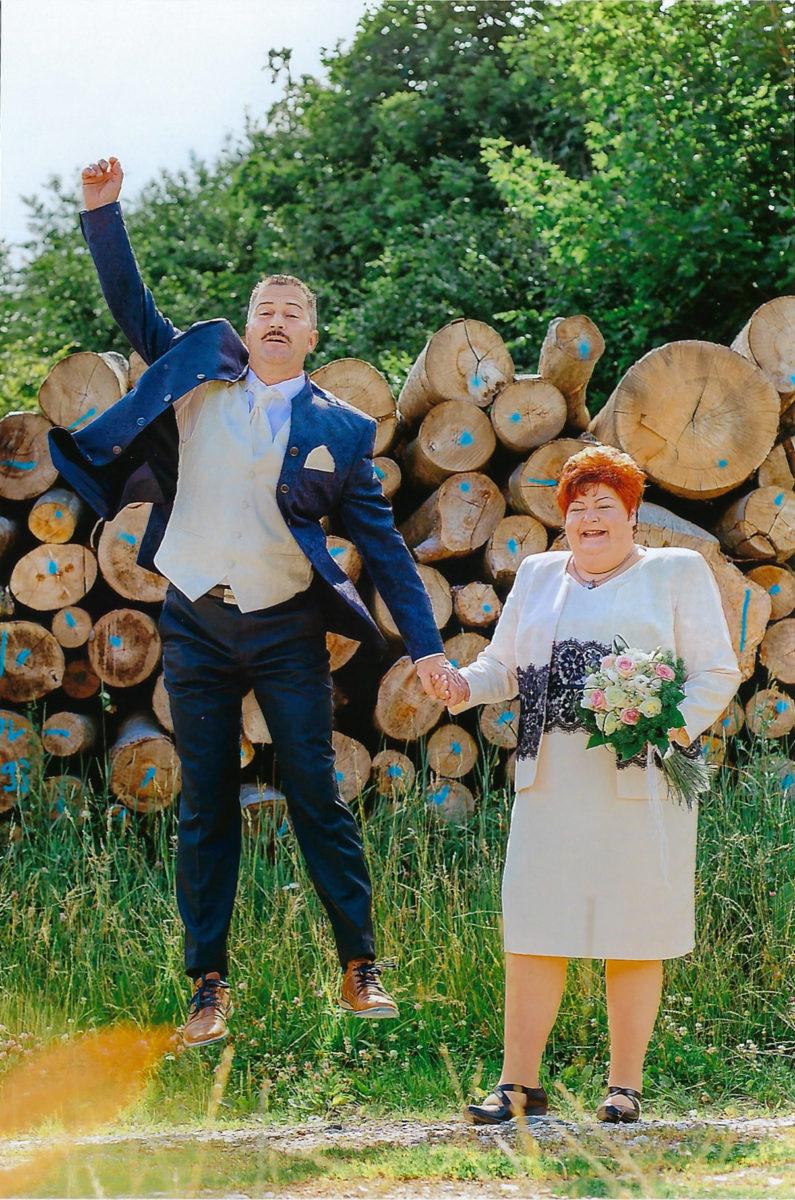 Danksagung Hochzeitspaar