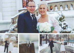 Katja & Karlo, Brautkleid und Anzug