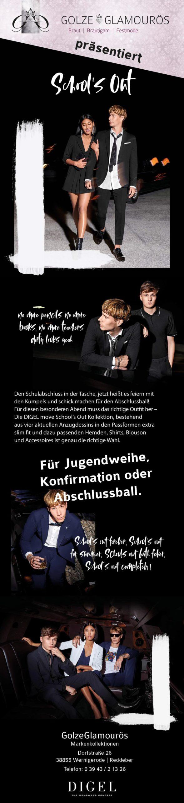 Schools out | Jugendweihe, Konfrimation, Abiball