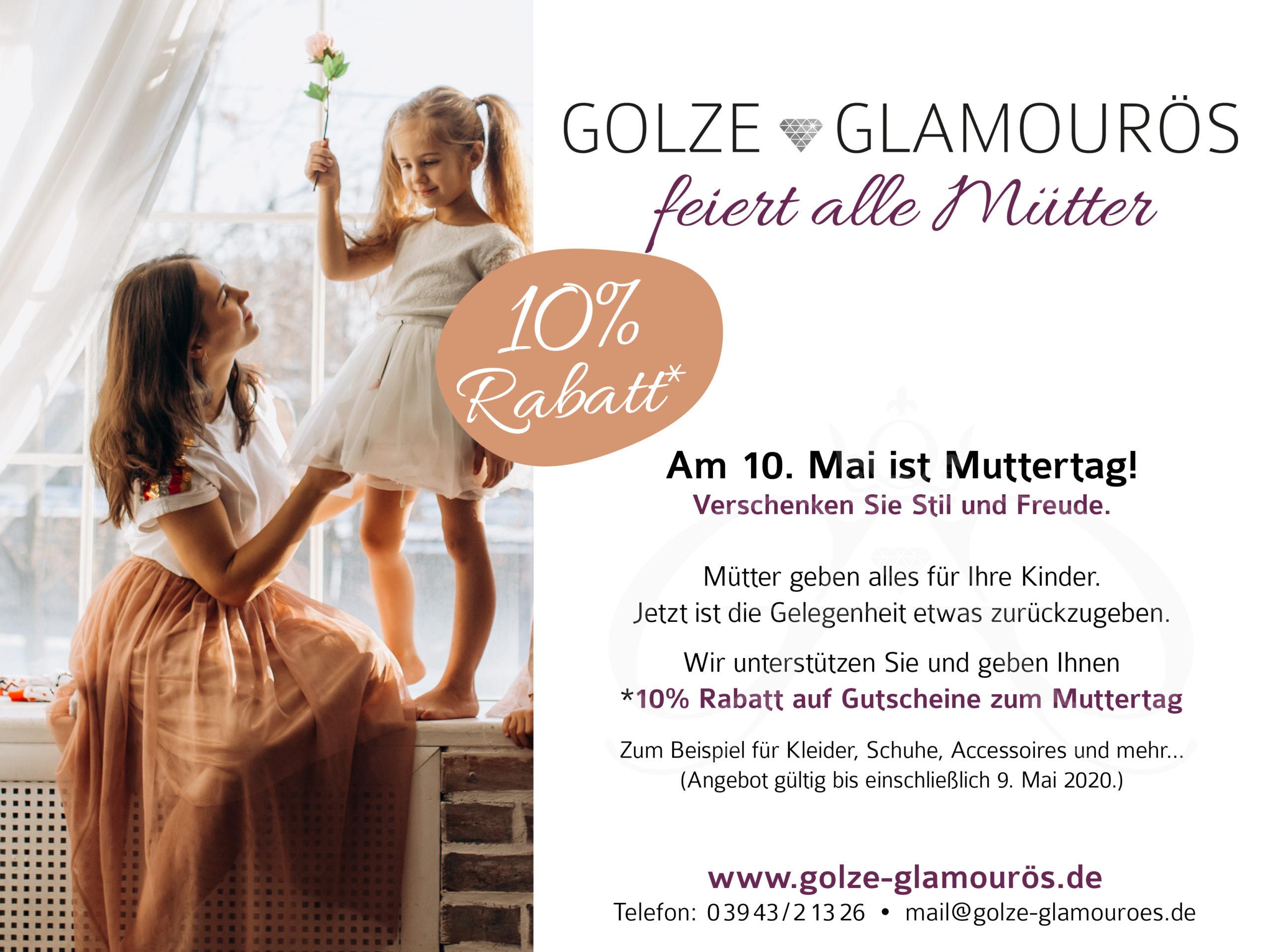 10% Muttertagsrabatt bei Golze Glamourös