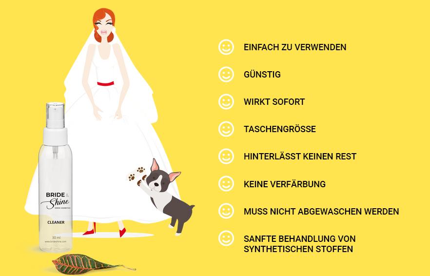 Bride & Shine Reinigung Brautkleid
